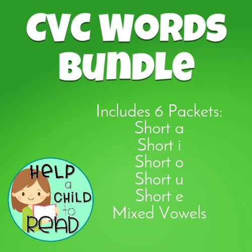CVC Words BUNDLE (Help a Child to Read Series)