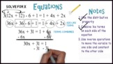 Equations (Multi-Step) #1: Whiteboard Animation