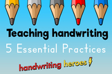 Teaching Handwriting Video: 5 Essential Practices