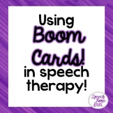 Using Boom Cards In Speech Therapy