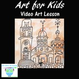 Directed Drawing Video Lesson: Learn to Draw an Old Mansio