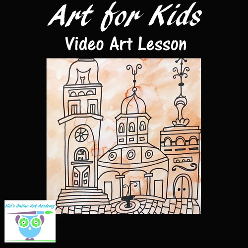 Directed Drawing Video Lesson Learn To Draw An Old Mansion Step By