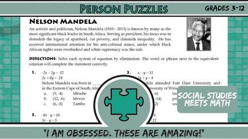 Person Puzzle - Tangents to Circles - Norman Borlaug