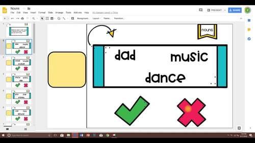 Nouns Game for Google Classroom