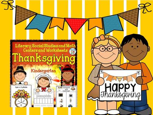 Thanksgiving Literacy and Math Activities PK and K