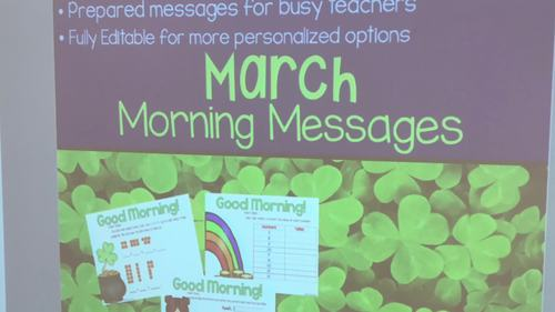 March Morning Messages Projectable and Editable