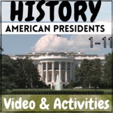 American History First Presidents Video + Activities Kit!