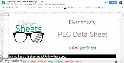 Elementary PLC Google Data Sheet (RTI)