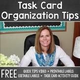 Task Card Organization FREEBIE - Editable Task Card Labels