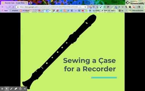 Sewing a Recorder Case