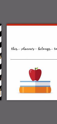 Middle School & High School Teacher Planner: Blue & Green Leaves