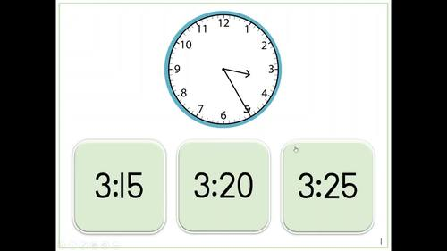 Telling Time | Analog Clocks | Digital Tasks for Special Education
