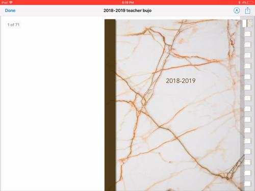 2018-2019 EDITABLE DIGITAL TEACHER PLANNER/BULLET JOURNAL (ppt AND pdf)