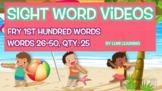 Fry 1st 100, Sight Word Videos #26-50: Teach Spelling, Mea