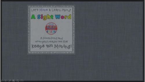 Sight Word Activity - PowerPoint and Emergent Reader for the sight word IS