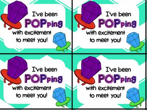 Ring Pop Beginning of Year Gift Tag (Popping with excitement!)