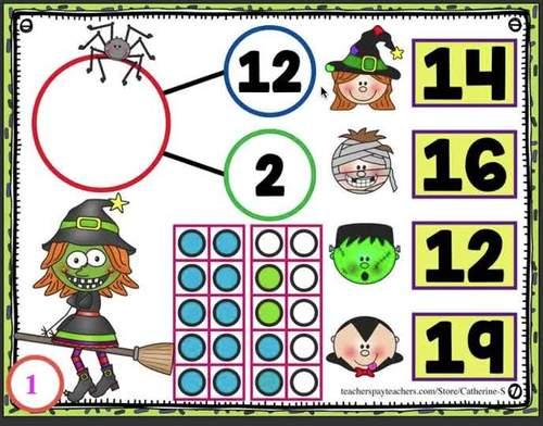Number Bonds to 20 Games Halloween