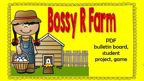 Bossy R Farm Lesson  to help teach r-controlled vowels, Power Point