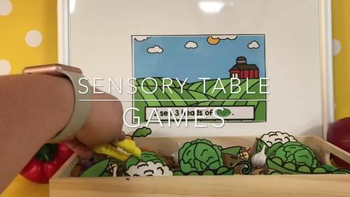 Sensory Table Games Growing Bundle