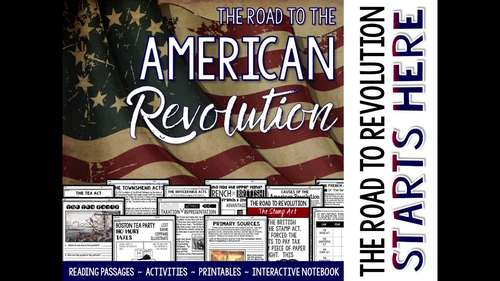 American Revolution Unit Causes of the Revolutionary War