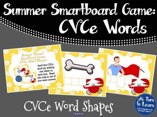 Summer Smartboard Game: CVCe Word Shapes (Smartboard/Promethean Board)