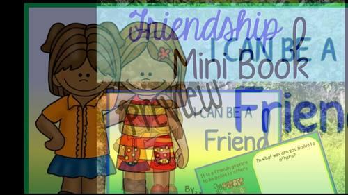 Friendship Activity:  Friendship Mini Book
