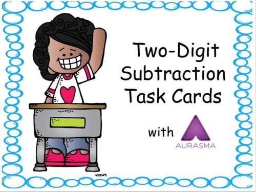Augmented Reality MATH Task Cards Using Aurasma - 2-Digit Subtraction