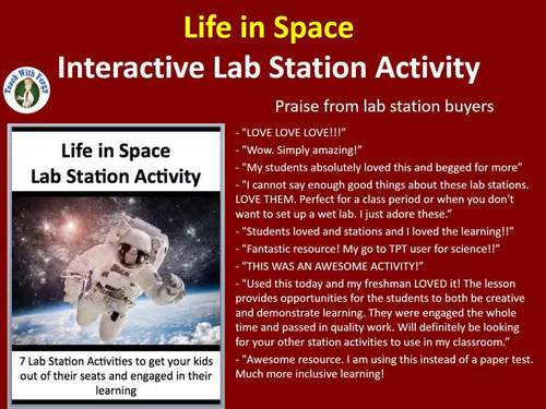 Life In Space - 7 Engaging Lab Station Activities