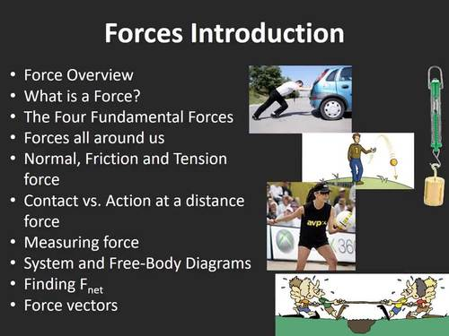 Forces Lesson - An Introduction to Forces Physics Lesson Package
