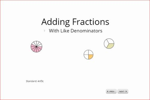 Adding Fractions Scorm eWorksheet