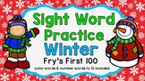 Sight Word Video & Slideshow, Fry's First 100, Winter