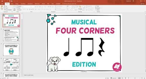 Musical Four Corners, Ta & Ti-Ti, Quarter & 8th Notes (Stick & Standard Bundle)