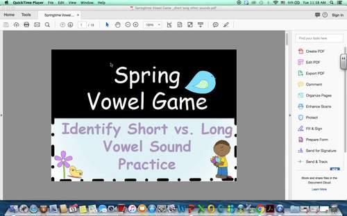 Springtime Vowel Game
