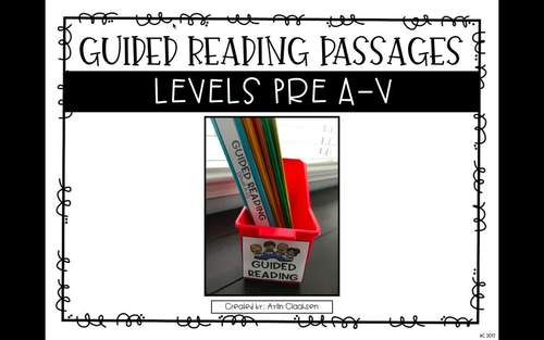 Guided Reading Passages Bundle: Level A-P