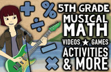 NUMBEROCK 5th Grade Musical Math Centers: Games, Videos, W
