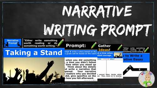Argument Topics For Essay Narrative Writing Lesson  Prompt  With Digital Resource  Taking A Stand Self Concept Essay also Narrative Essay Example About Life Narrative Writing Lesson  Prompt  With Digital Resource  Taking A  Essay On The Road Not Taken