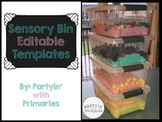 Sensory Bin Creation