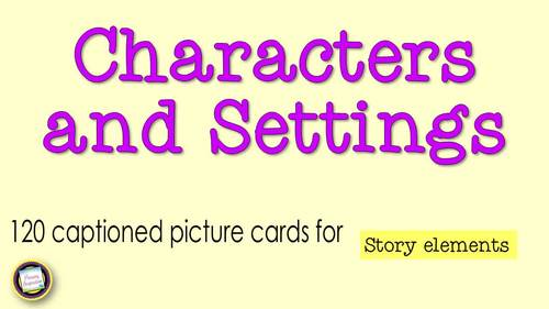 Character and Setting Cards for Writing