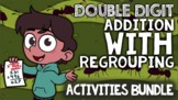 Double Digit Addition with Regrouping: With Worksheets, Wo