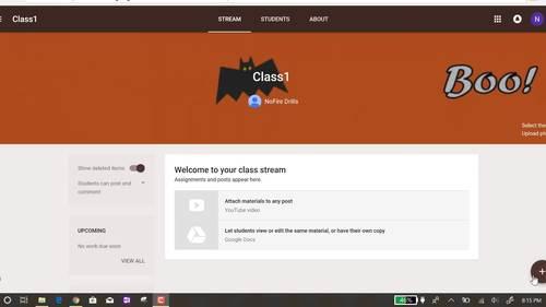 Google Classroom Animated Themes (October)