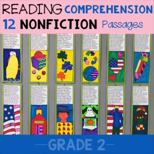 Reading Comprehension Coloring Pages (2nd Grade)