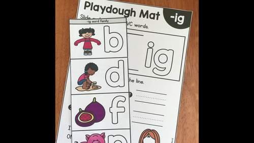 CVC Words Playdough Mats