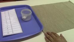 Montessori ABC order lesson