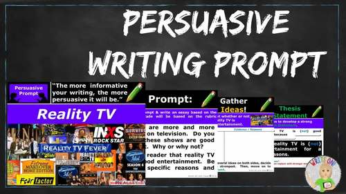Persuasive Writing Lesson / Prompt – with Digital Resource – Reality TV