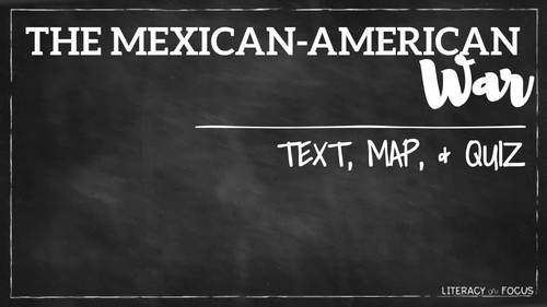 Mexican American War Activities   Includes Google Classroom Version