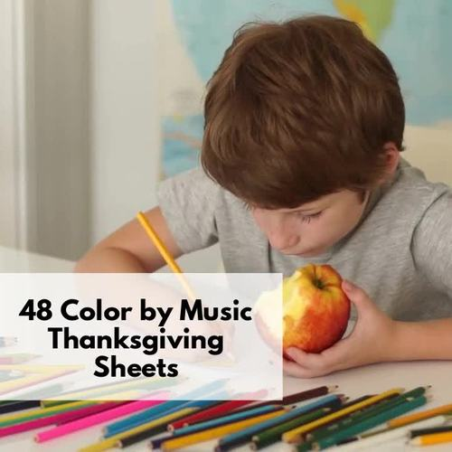 Color by Music Thanksgiving