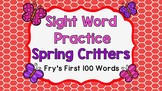 Sight Word Video & Slideshow, Fry's First 100 Words, Spring