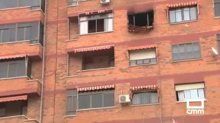 Cinco afectados, entre ellos 2 niños, por un incendio en un piso de Albacete