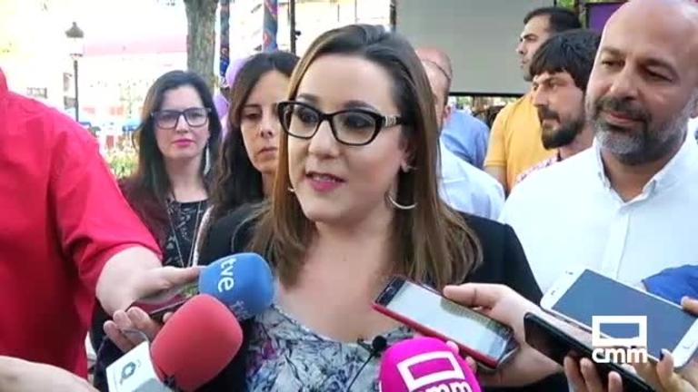 """Unidas Podemos: María Díaz, en Ciudad Real, asegura que """"son la garantía de que haya políticas progresistas"""""""