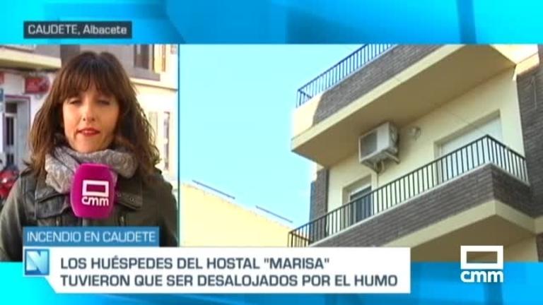 Desalojadas 12 personas de un hostal de Caudete (Albacete) por un incendio